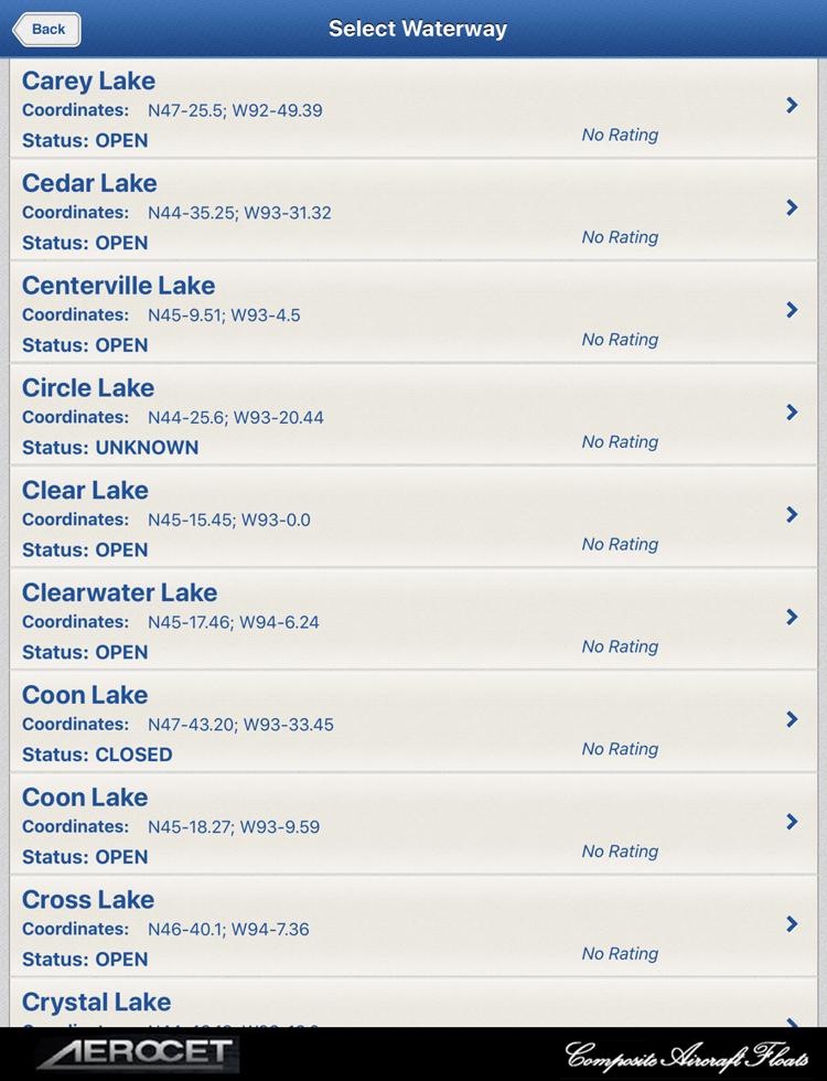 Water Landing Directory App